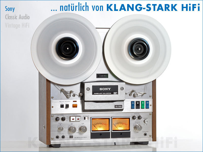 sony tc 755a stereo tonbandger t gebraucht kaufen bei klang stark hifi. Black Bedroom Furniture Sets. Home Design Ideas