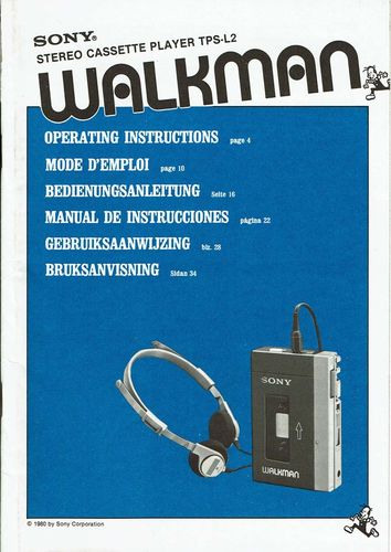 Bedienungsanleitung Sony Walkman 1980 multilingual